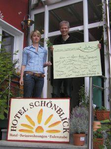 Friederike und Roland Heusinger vom Hotel Schönblick