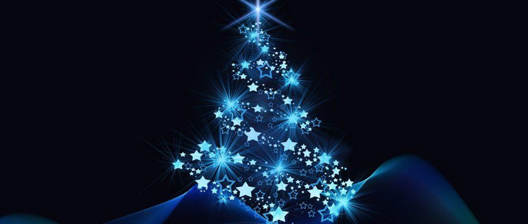 Eine grafische Darstellung eines Weihnachtsbaums